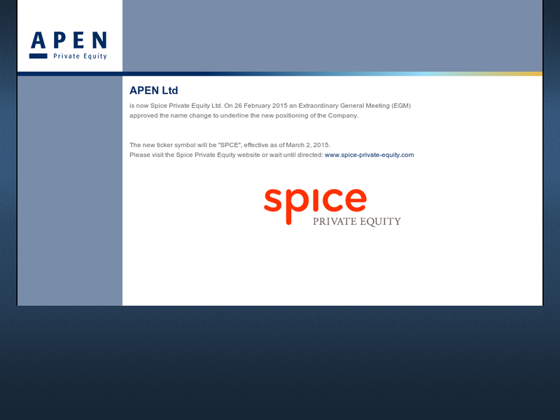 Images from APEN Private Equity