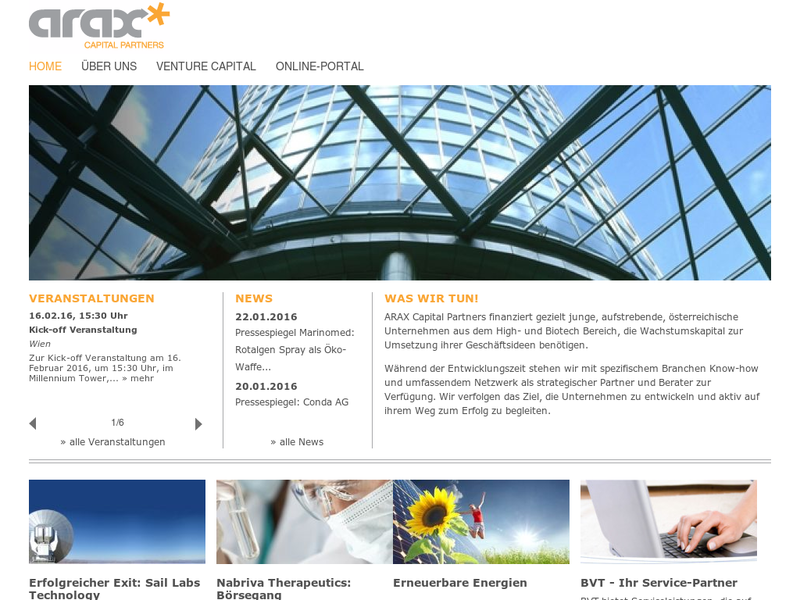 Images from ARAX Capital Partners GmbH
