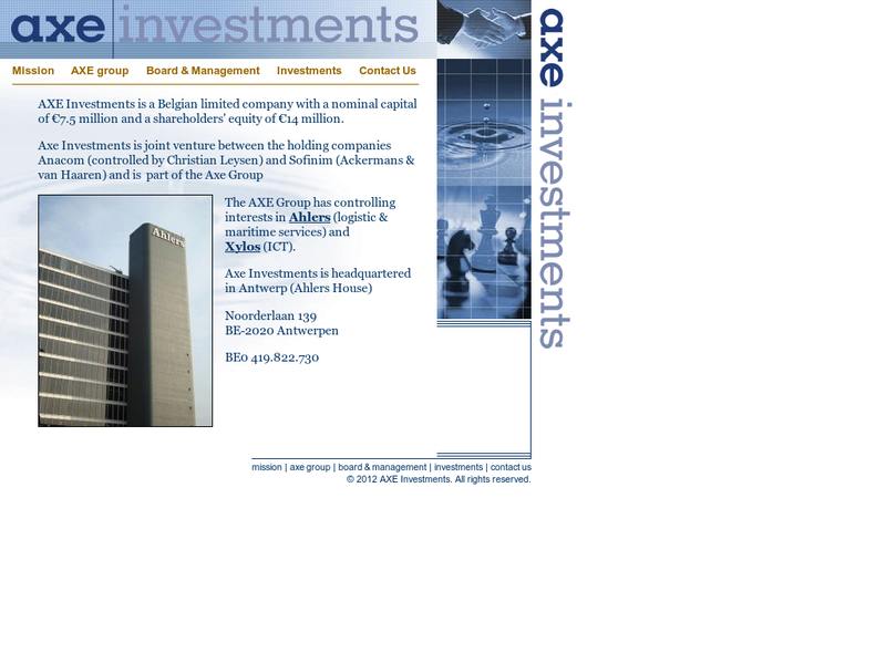 Images from AXE Investments N.V.