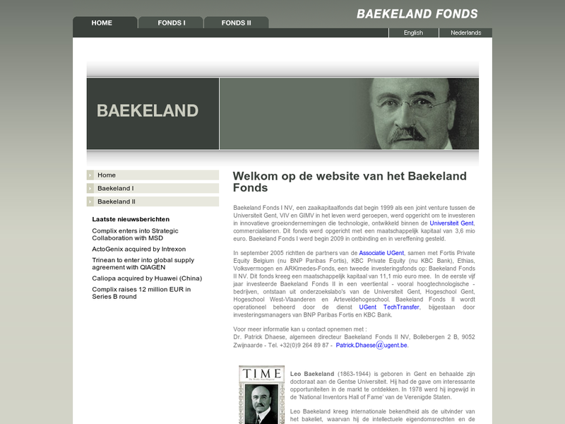 Images from Baekeland Fonds NV