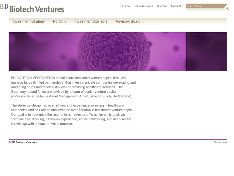 Images from BB BIOTECH Ventures