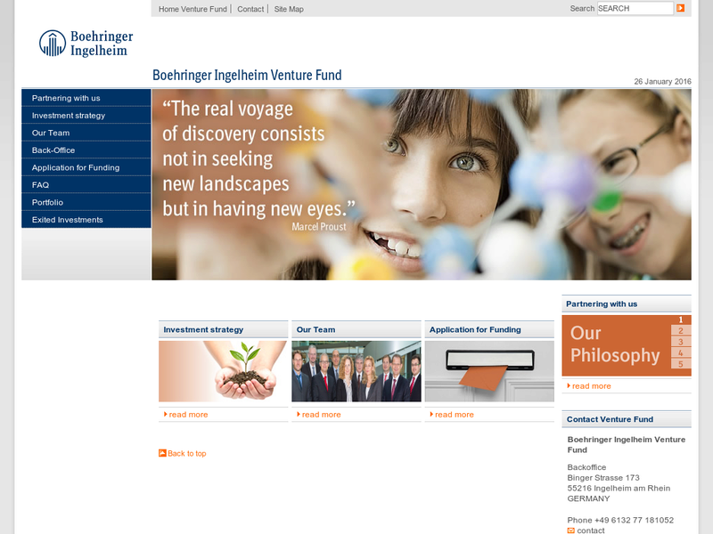 Images from Boehringer Ingelheim Venture Fund