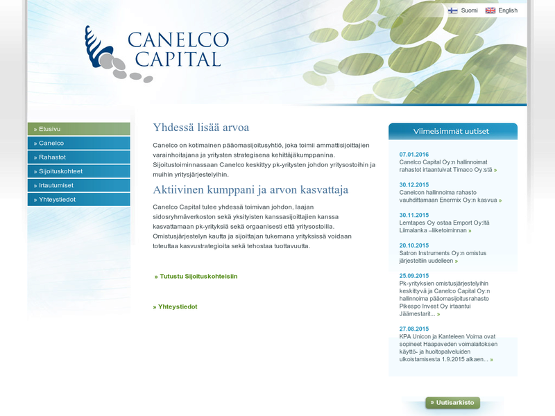 Images from Canelco Capital Oy