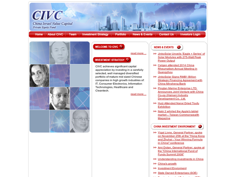 Images from CIVC-China-Israel Value Capital