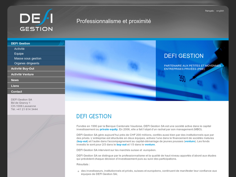 Images from DEFI Gestion SA