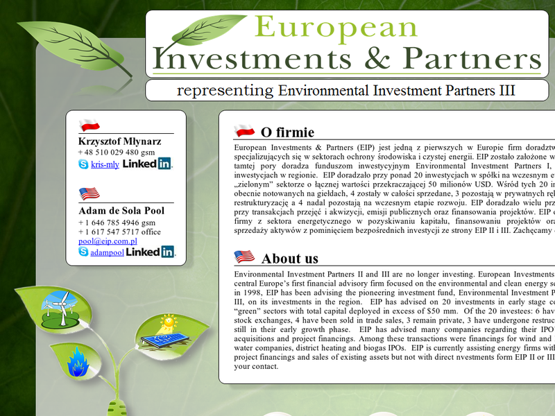 Images from Environmental Investment Partners