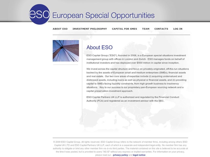 Images from ESO Capital UK Ltd.