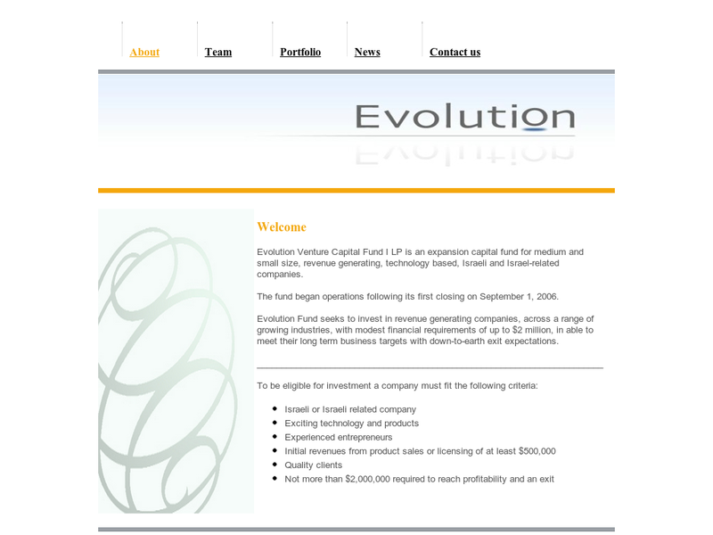 Images from Evolution Venture Capital Fund