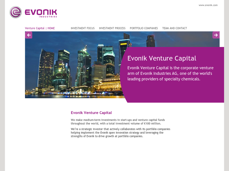 Images from Evonik Corporate Venturing