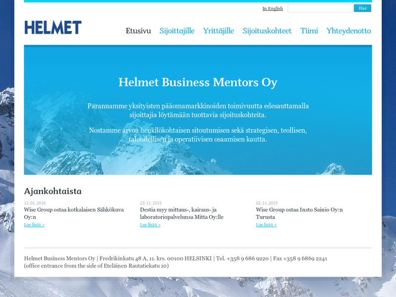 Images from Helmet Business Mentors Oy