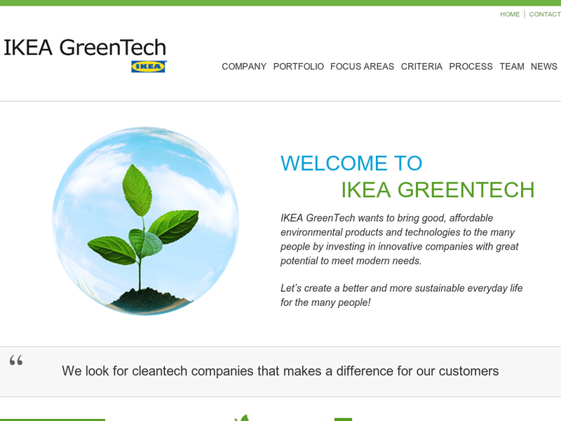 Images from IKEA GreenTech AB