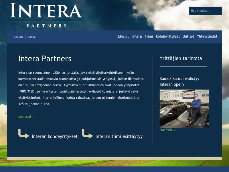 Images from Intera Partners Oy