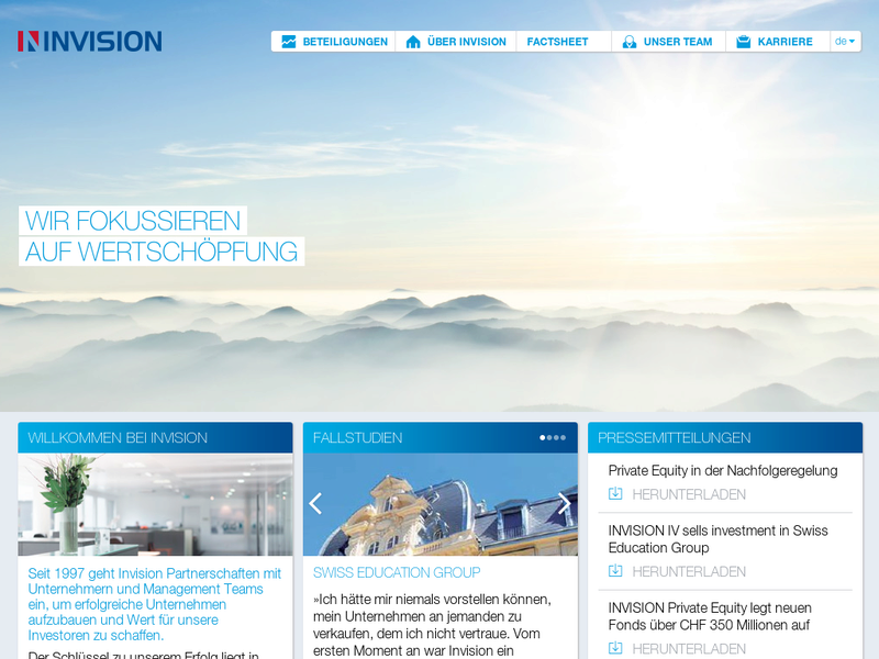 Images from Invision Private Equity AG