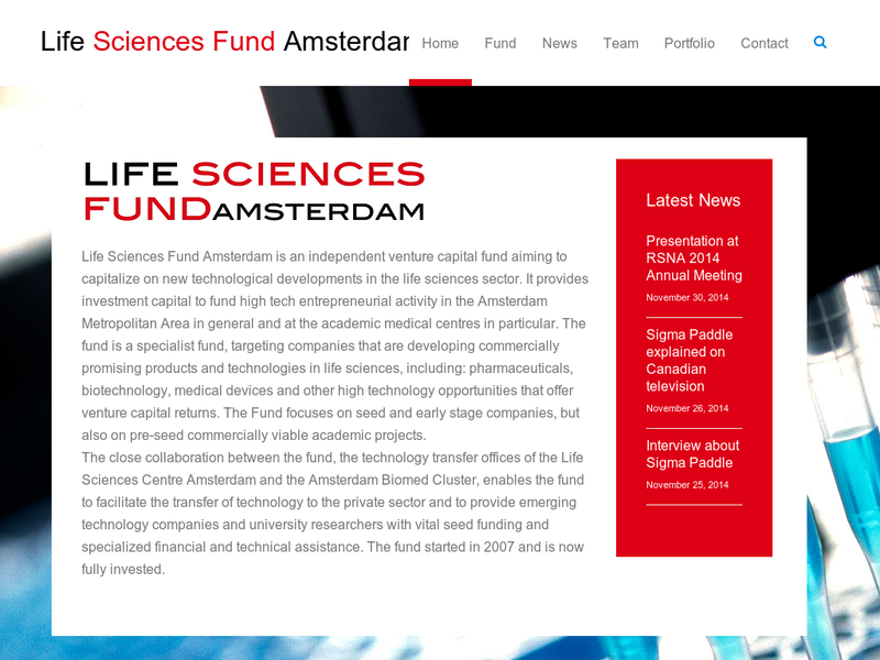 Images from Life Sciences Fund Amsterdam