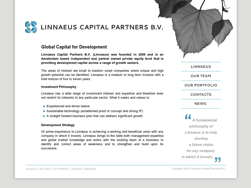 Images from Linnaeus Capital Partners B.V.