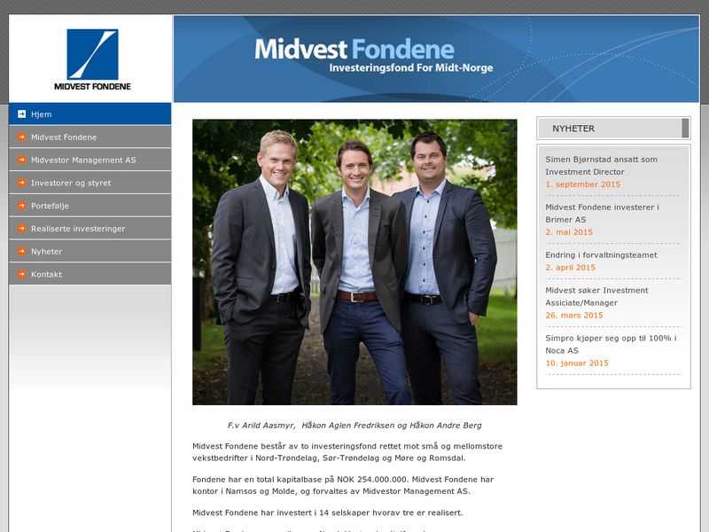 Images from Midvestor Management AS
