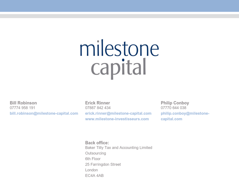 Images from Milestone Capital Partners LLP