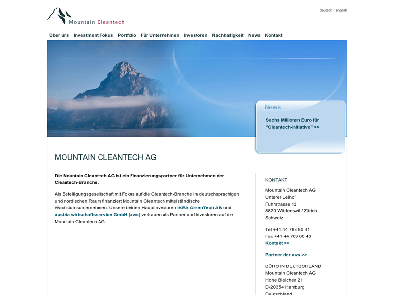 Images from Mountain Cleantech AG