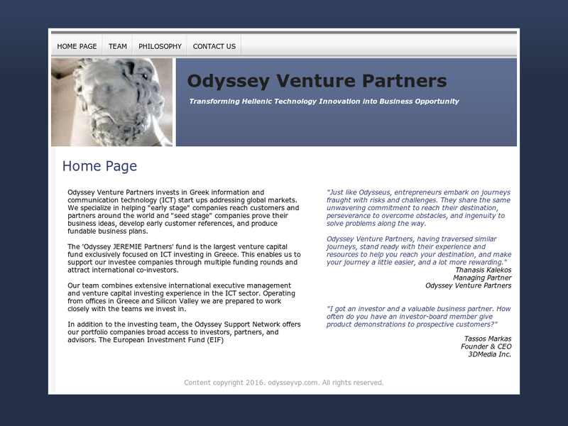 Images from Odyssey Venture Partners