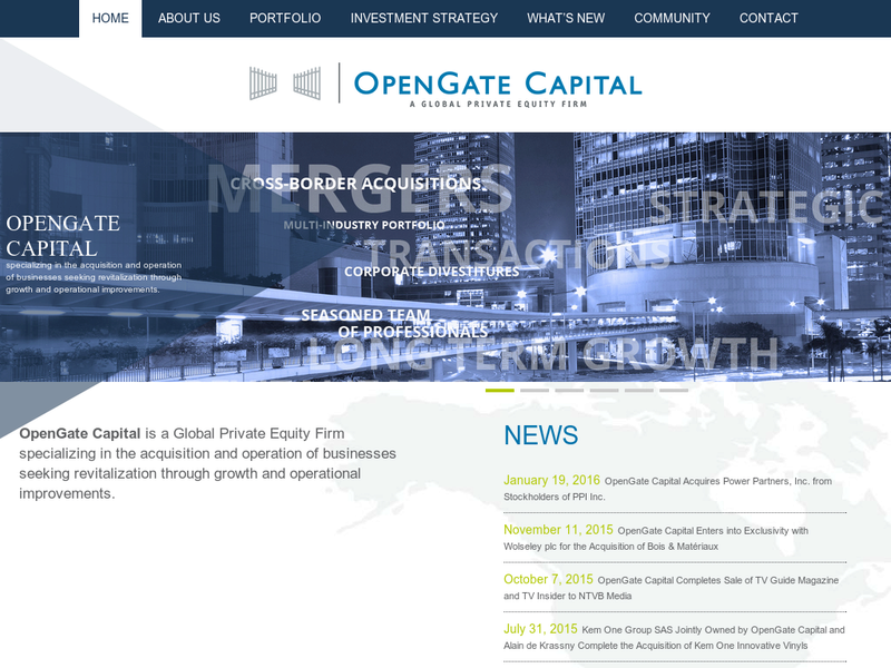 Images from OpenGate Capital, LLC.