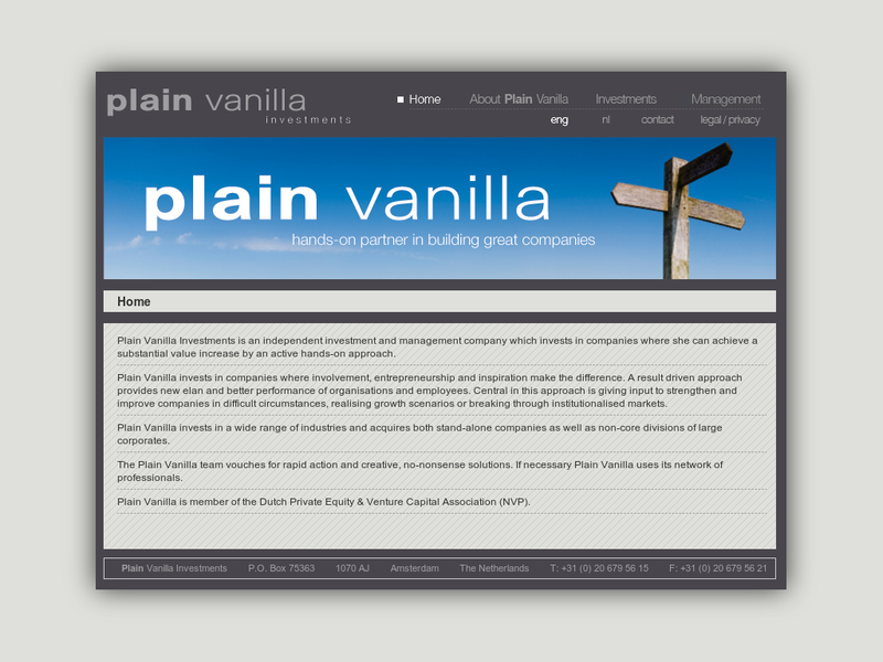 Images from Plain Vanilla Investments BV