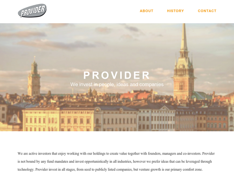 Images from Provider Venture Partners AB