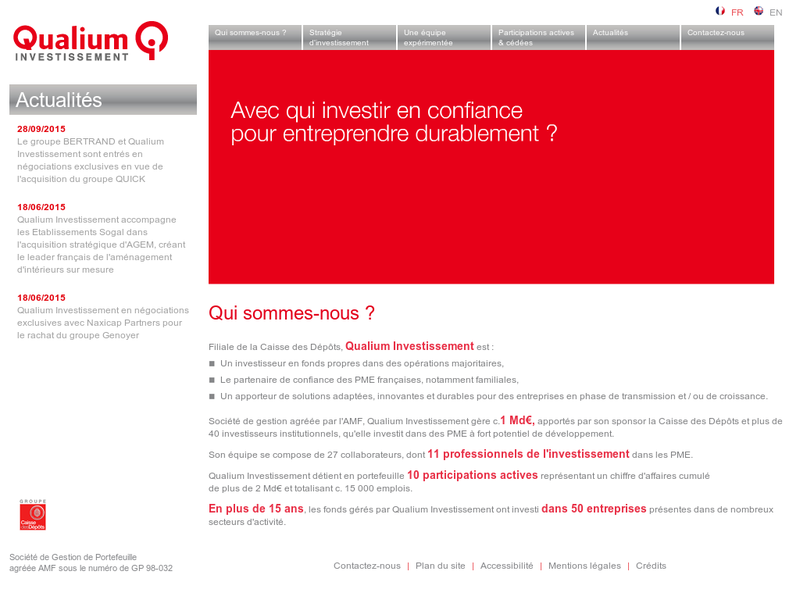 Images from Qualium Investissement