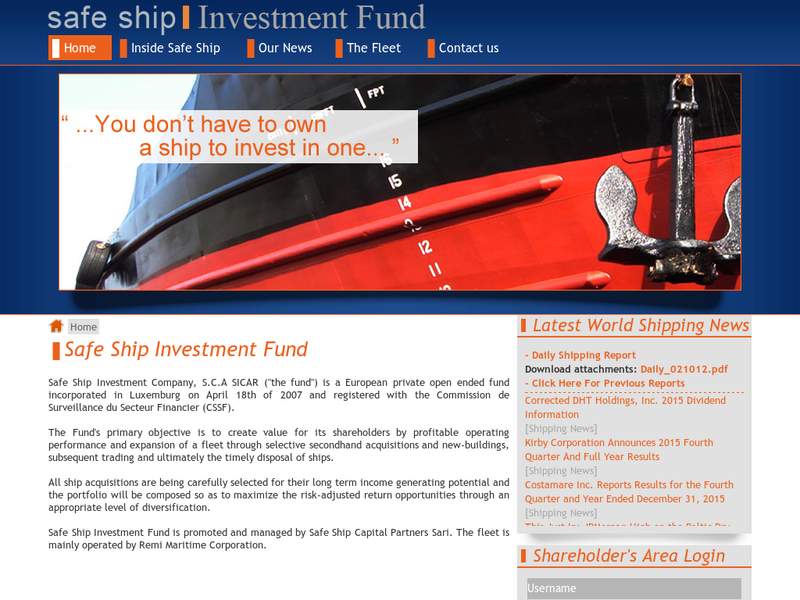 Images from Safe Ship Investment Fund S.C.A