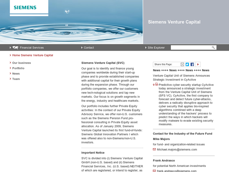 Images from Siemens Venture Capital GmbH