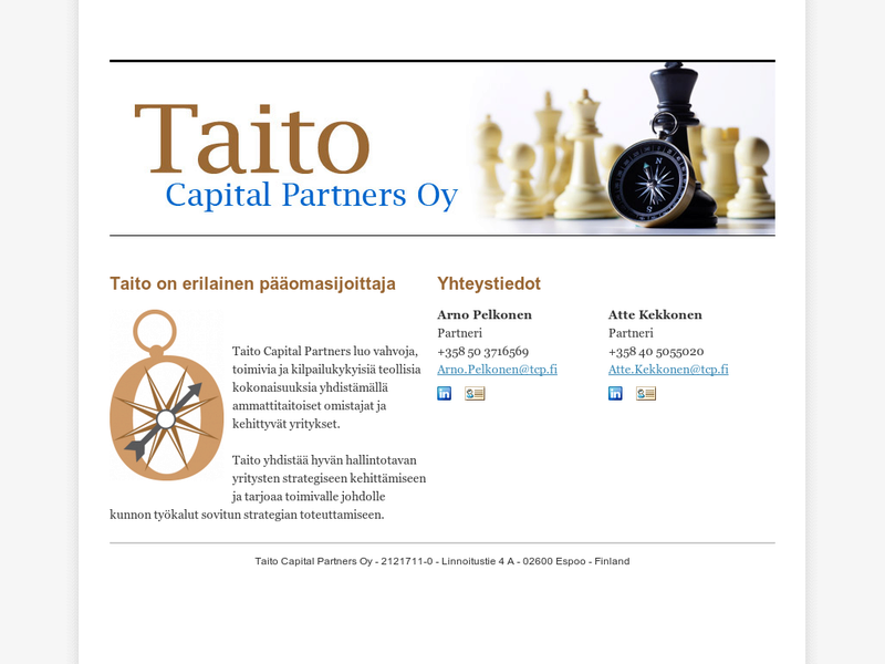 Images from Taito Capital Partners Oy