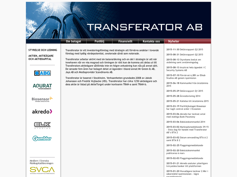 Images from Transferator AB