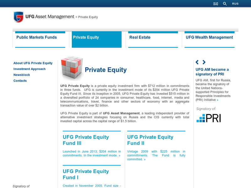 Images from UFG Private Equity
