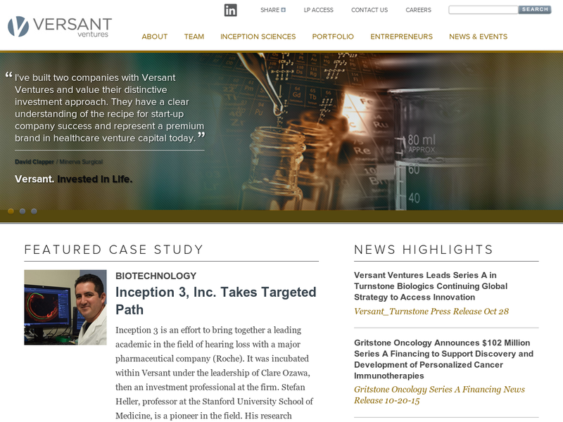 Images from Versant Ventures
