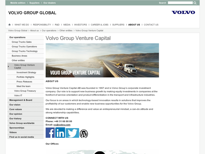 Images from Volvo Group Venture Capital AB