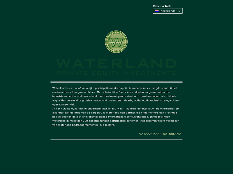 Images from Waterland Private Equity Investments B.V.