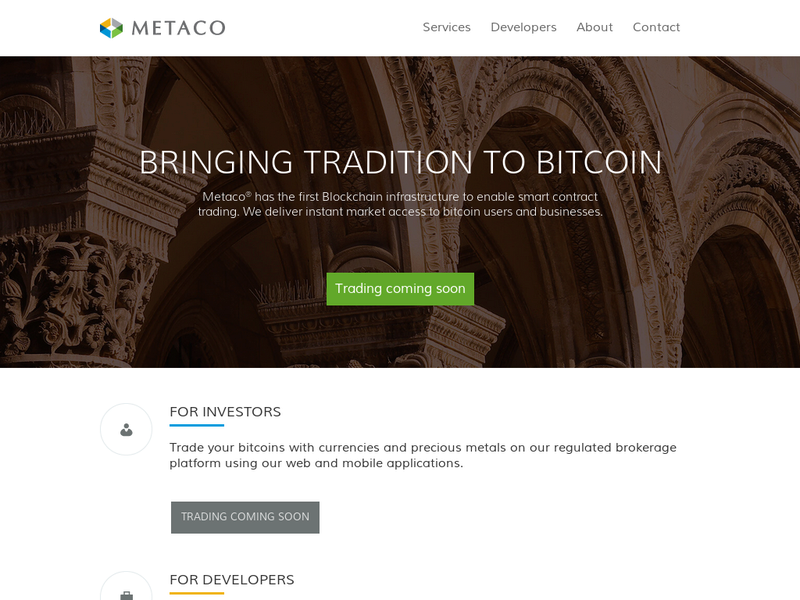 Images from Metaco Broker