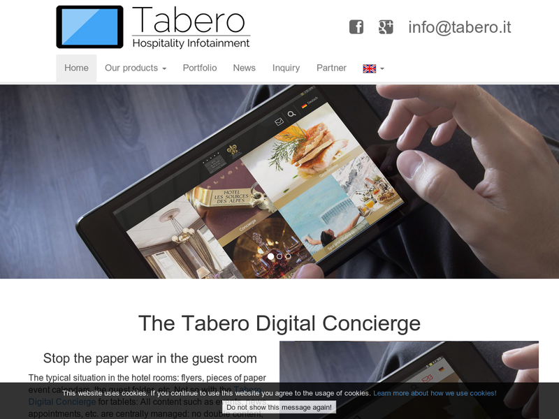 Images from Tabero Hospitality Infotainment