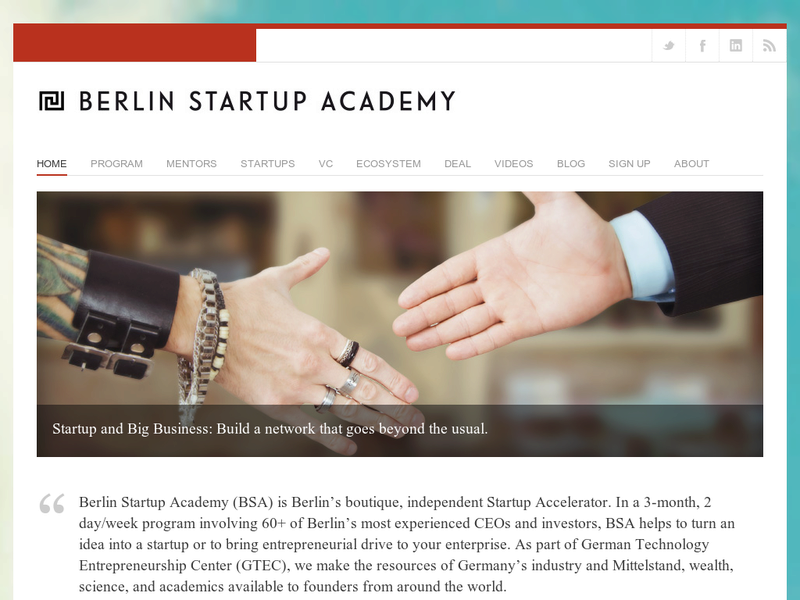 Images from Berlin Startup Academy