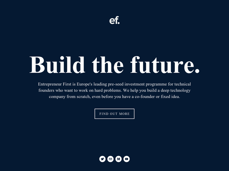 Images from Entrepreneur First