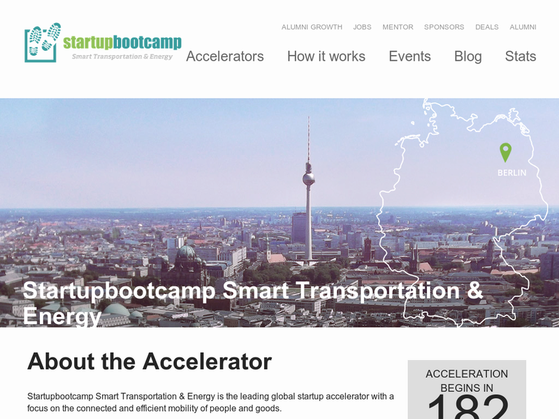 Images from Startupbootcamp Smart Transportation & Energy