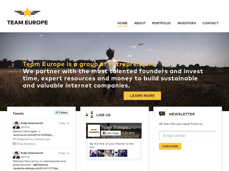 Images from Team Europe Ventures