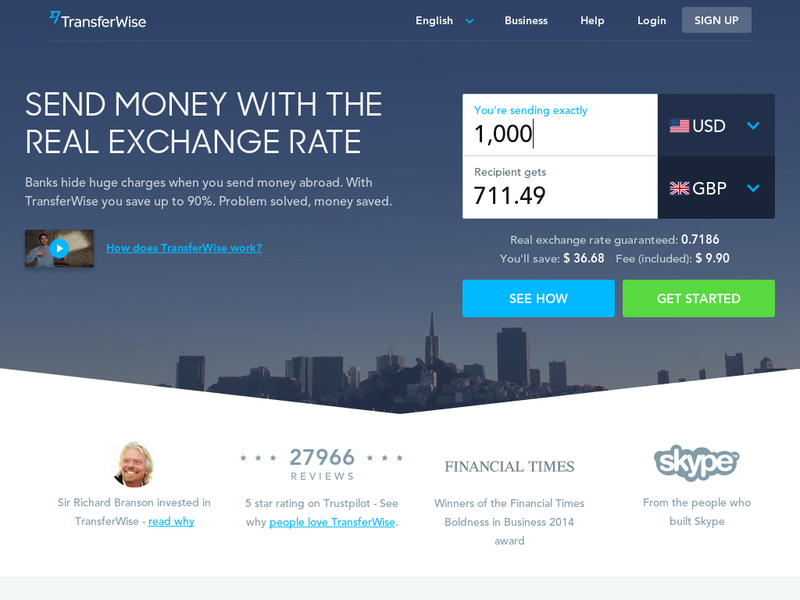 Images from TransferWise