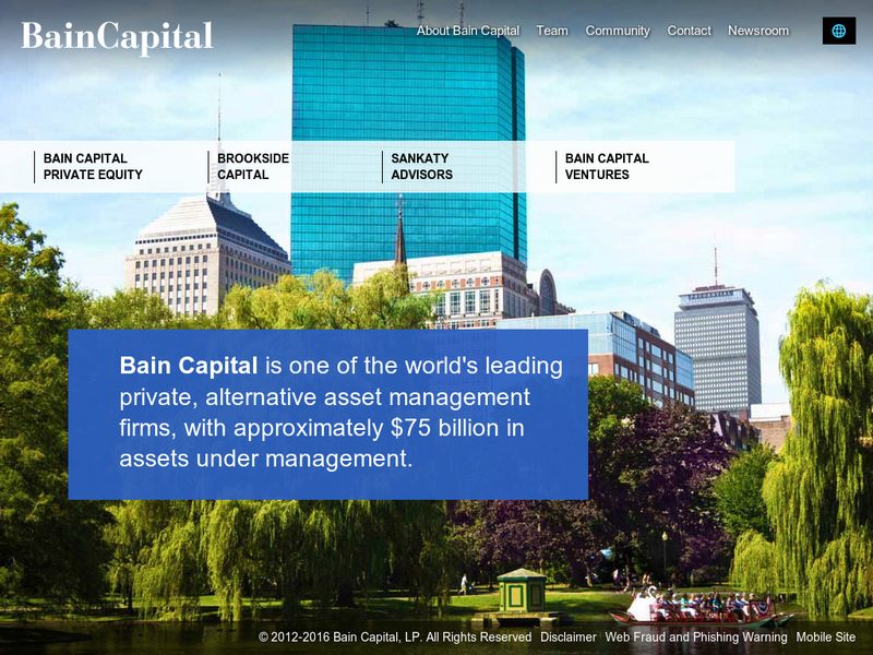 Images from Bain Capital