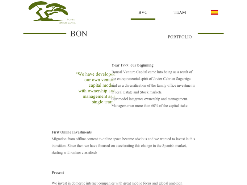 Images from Bonsai Venture Capital