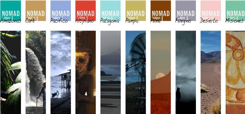Images from Nomad lodges
