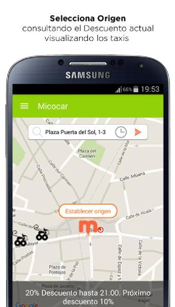 Images from Micocar Taxi App