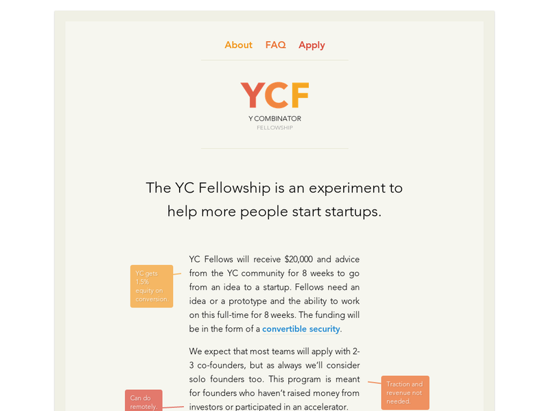 Images from Y Combinator Fellowship