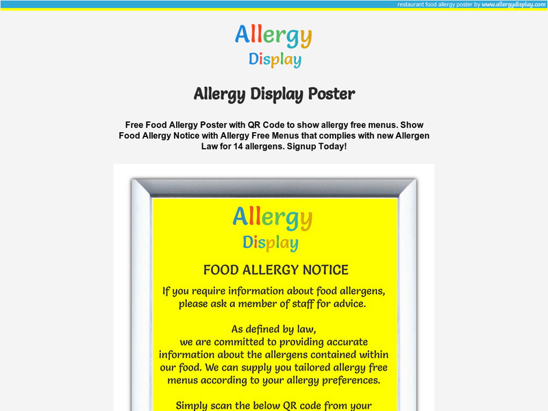 Images from AllergyPoster.com
