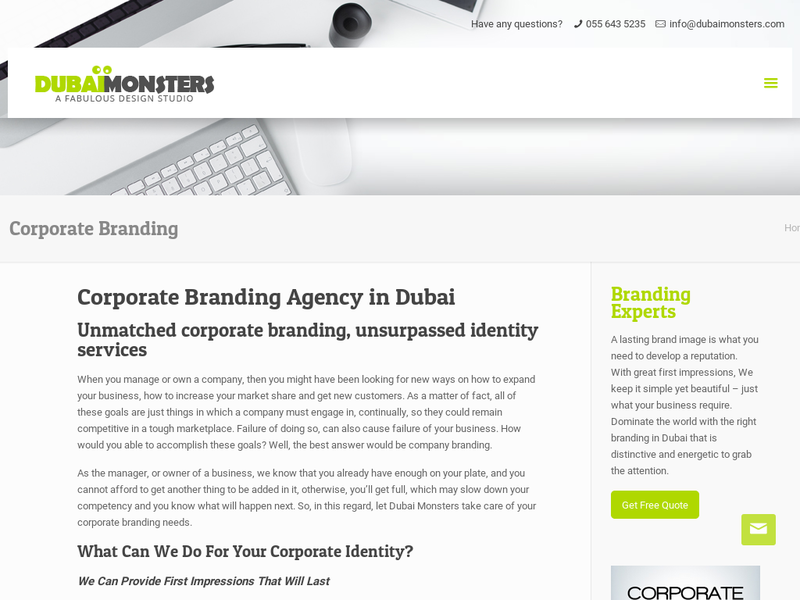 Images from Corporate Branding Company in Dubai
