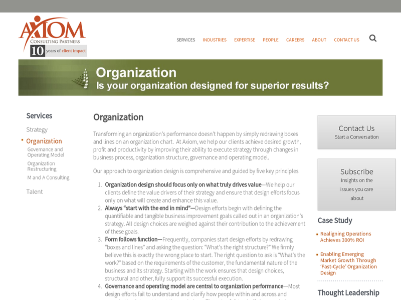Images from Axiom Consulting Partners